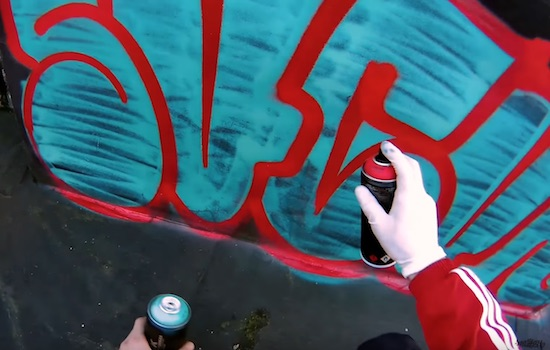 Get Em High » Throw Up Two Color Graffiti Bombing