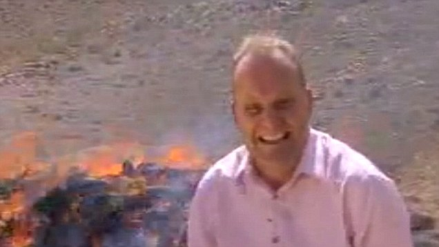 BBC Reporter Gets High Next to Burning Heroin
